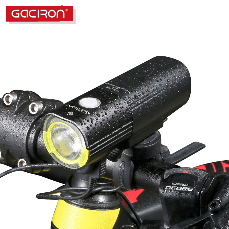 GACIRON Sepeda sepeda Headlight Waterproof 1000 Lumens MTB Bersepeda Flash Light Depan LED Torch Light aksesoris sepeda Bank