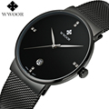 Top Brand Luxury Ultra Thin Date Clock Waterproof Sport Watches Male Casual Quartz Wrist Watch Men Watch WWOOR relogio masculino