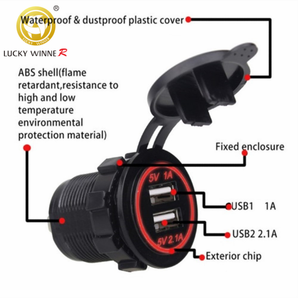 1 pcs Universal Dual USB Car Charger Power Adapter 12 24 V 3 1A Dual USB Socket Charger For anyone iPhone 5 6 6S Ipad Samsung in Cables Adapters Sockets from Automobiles Motorcycles