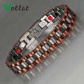 Wollet Jewelry 21 Cm Germanium Magnetic Tungsten Bracelet Men Health Energy Infrared Negative Ion Tourmaline Bracelet For Man