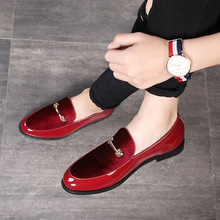 2019 Fashion Pointed Toe Dress Shoes Men Loafers Patent Leather Oxford Shoes for Men Formal Mariage Wedding Shoes Plus size 48