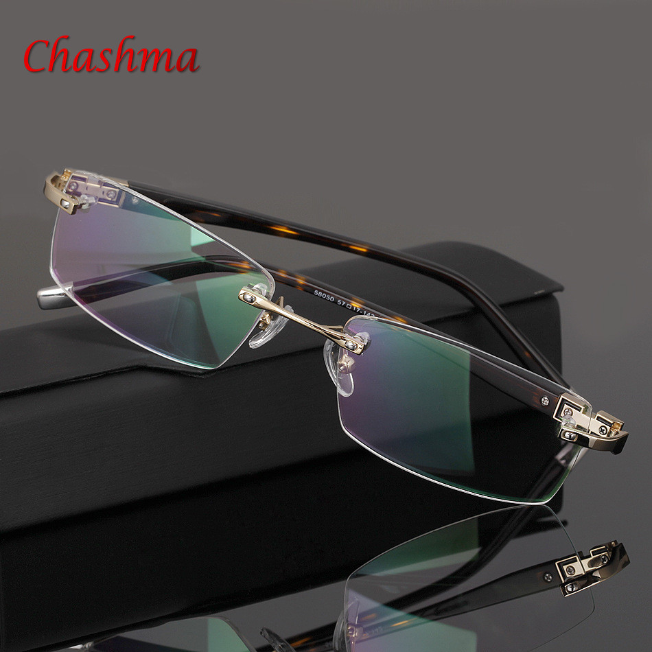 Eyeglasses optical glasses oculos spectacle frame eyeglasses frames eye glasses frames for men women Rimless glasses frame