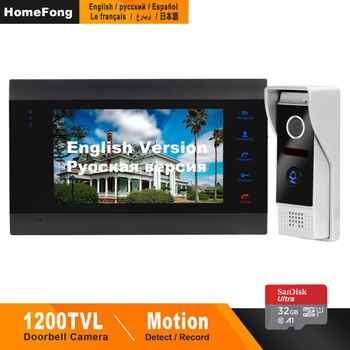 Homefong Video Doorbell Door Phone Doorbell 1200TVL Wide Angle Camera Security Video Intercom Doorbell Picture  Video Recording - DISCOUNT ITEM  50% OFF All Category
