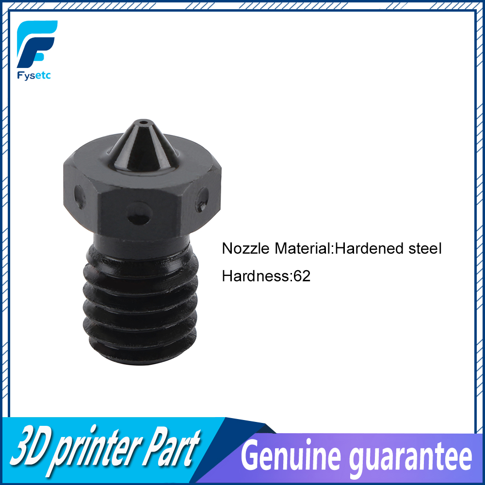 Top Quality Hardened Steel V6 Nozzles For High Temperature 3D Printing PEI PEEK Carbon Fiber Filament For E3D Titan Aero Hotend