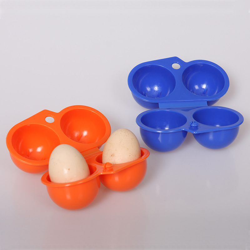 Outdoor Egg Box 2 Pack Portable Egg Box/two Egg Boxes Anti-crush Storage Box Outdoor Equipment