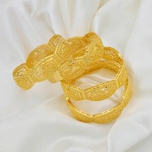Image 5 - Anniyo 4Pieces/Openable Dubai Bangles Ethiopian Bracelets&Bangles for Women African Wedding Jewelry Arabic Middle East #208406