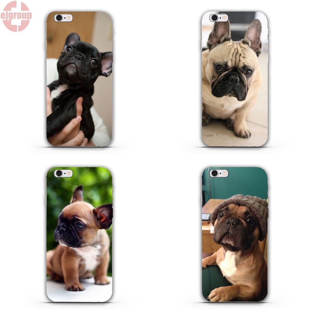 Ejgroup для iphone 4 4S 5 5C SE 6 6 S 7 8 Plus X Мягкие ТПУ силиконовый чехол для телефона в масках frenchie Французский бульдог щенок