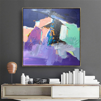 Wall Art pictures ,Hand painted canvas oil paintings Cheap large modern abstract cuadros Home decor фото