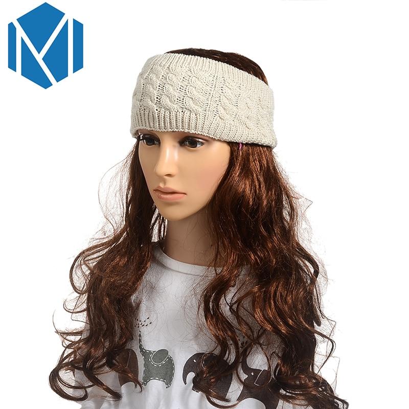 M MISM 5 Muster Solide Strick Stirnband Hochwertigen Haarschmuck für ...