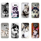 Phone Case For Samsung Galaxy C5 C7 Shell S4 S6 S7 Edge Plus Back Cover Protection TPU Wacky Husky Design Painted