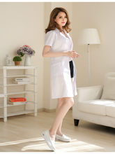Long-sleeved doctor clothes female summer short-sleeved lab coat chemical beauty salon teacher nurse clothes overalls(China)
