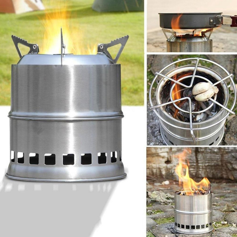 Portable Stainless Steel Outdoor Camping Cooking Picnic Burner Alcohol Stove