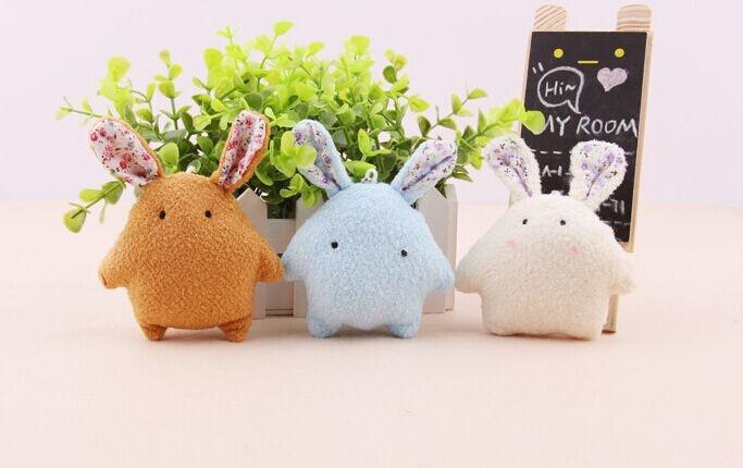 Kawaii 4Colors WAWA Rabbit 8CM small Plush Stuffed TOY DOLL , Stuffed TOY Wedding Gift Flower Bouquet Decor DOLL TOY