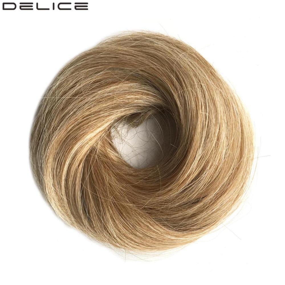 דליקה 4pcs / lot נשים סטרייט גומי בנד Scrunchie - שיער סינתטי