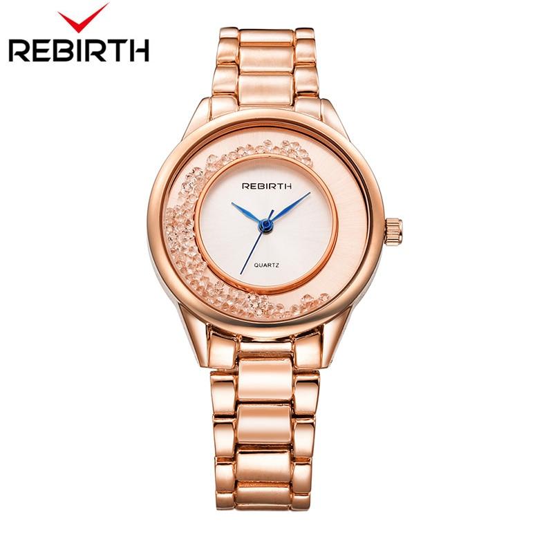ODRODZENIE Top Brand Luxury Gold Strap Bransoletka kobiety zegarki - Zegarki damskie - Zdjęcie 1