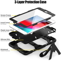 """galaxy s4 Case For Samsung galaxy Tab S4 8.0"""" T330 T331 T335 Waterproof Shock Dirt Snow Sand Proof Extreme Heavy Duty Kickstand Cover (2)"""