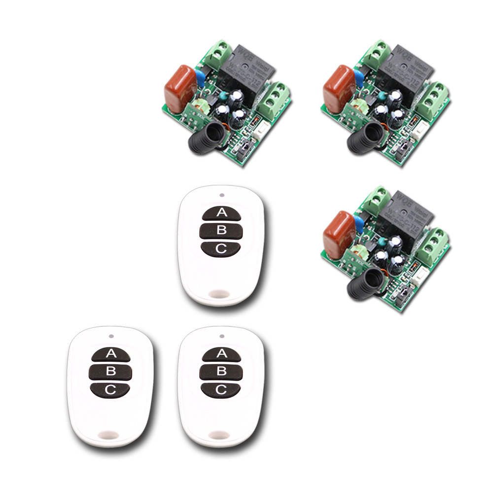 Newest Mini Receiver Transmitter 220V 1CH 10A RF Wireless Remote Control Switch System For Light Lamp 315Mhz 433.92Mhz ac 220 v 1 ch wireless remote control switch system 4x transmitter with 2 buttons 1 x receiver light lamp ledon off 315 433mhz
