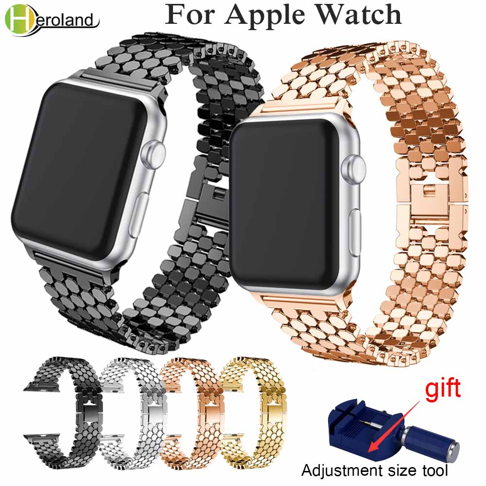 Luxury Steel link bracelet strap for apple watch band 42mm/38mm/44mm/40mm for iwatch series 4/3/2/1 metal wrist belt watchbandLuxury Steel link bracelet strap for apple watch band 42mm/38mm/44mm/40mm for iwatch series 4/3/2/1 metal wrist belt watchband