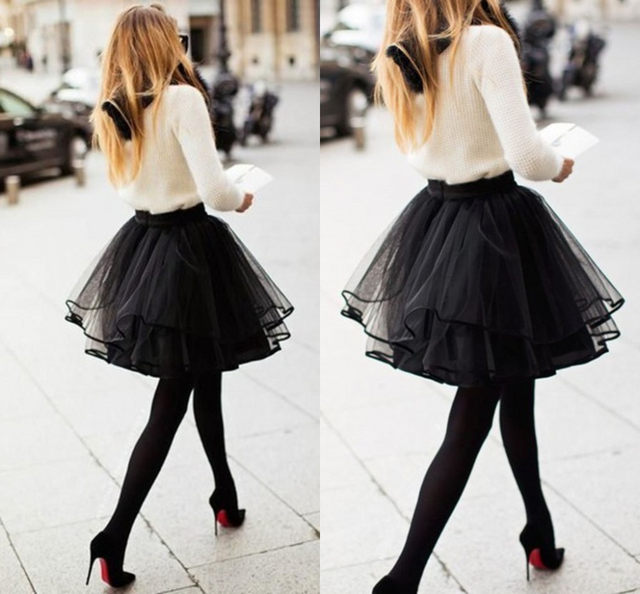 Black Short Tulle Skirtother Dressesdressesss
