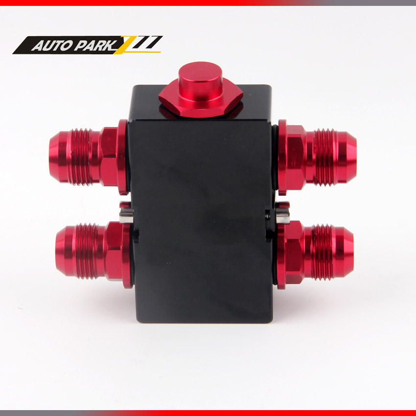 Oil Filter Sandwich Adaptor With In Line Oil Thermostat oil sandwich AN10 fitting Oil Sandwich plate Adapter sw
