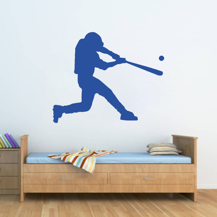 Popular baseball room buy cheap baseball room lots from for Sports decals for kids rooms