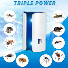 Bread Type Multi-function Ultrasonic Electronic Repeller Repels Mice Bed Bugs Mosquitoes Spiders Insect Repellent Killer(China)