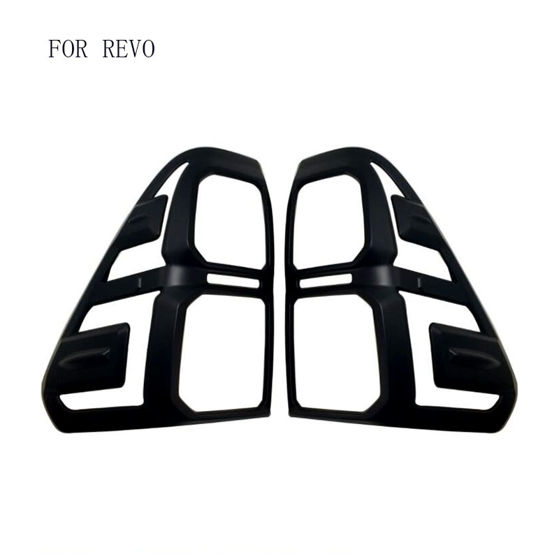 FIT FOR 2016-2017 Toyota Hilux REVO 2016 Accessories rear Light Black Cover Trim For Toyota Hilux SR5 2017 Suitable Hilux REVO 2016 toyota hilux revo window accessories abs chrome window gate trim for toyota hilux revo 2015 2016 chrome decoretive trim