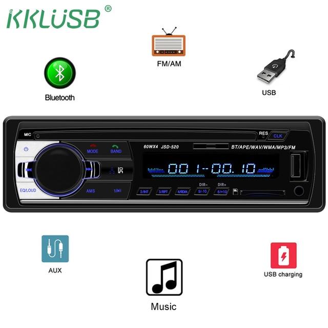 car radio jsd 520 12v bluetooth car stereo in dash 1 din fm auxcar radio jsd 520 12v bluetooth car stereo in dash 1 din fm aux input