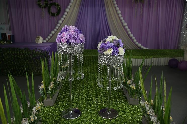 velkoobchod domácí párty stůl dekorace svatební křišťálové silnici vést svatební květiny držák svatební ozdobu událost večírek výzdoba