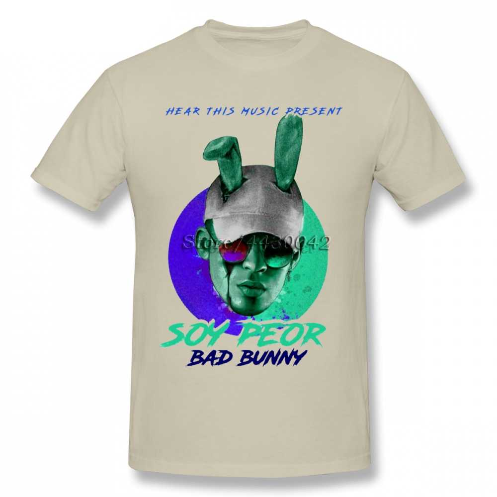 Bad Bunny T-shirt For Men Dropshipping Summer Short Sleeve Cotton Plus Size Custom Team Tee 4XL 5XL 6XL