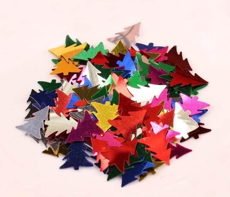 100 piezas / accesorios de vestir de escenario accesorios de joyería de bricolaje color mezclado lentejuelas árbol de decoración de Navidad