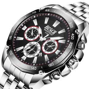Quartz Watches Sports-Calendar Stainless-Steel Fashion New-Arrival Business BOSCK Montre