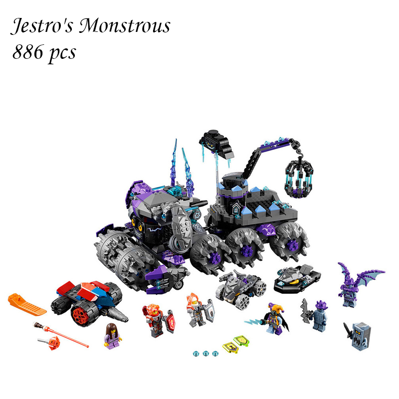 Building Blocks 14031 Compatible with lego NEXOE Knights Jestro's Monstrous Monster 70352 Model Educational Toys For Children lepin 14031 886pcs nexus knights building blocks set jestro s monstrous monster vehicle kids bricks toys compatible 70352