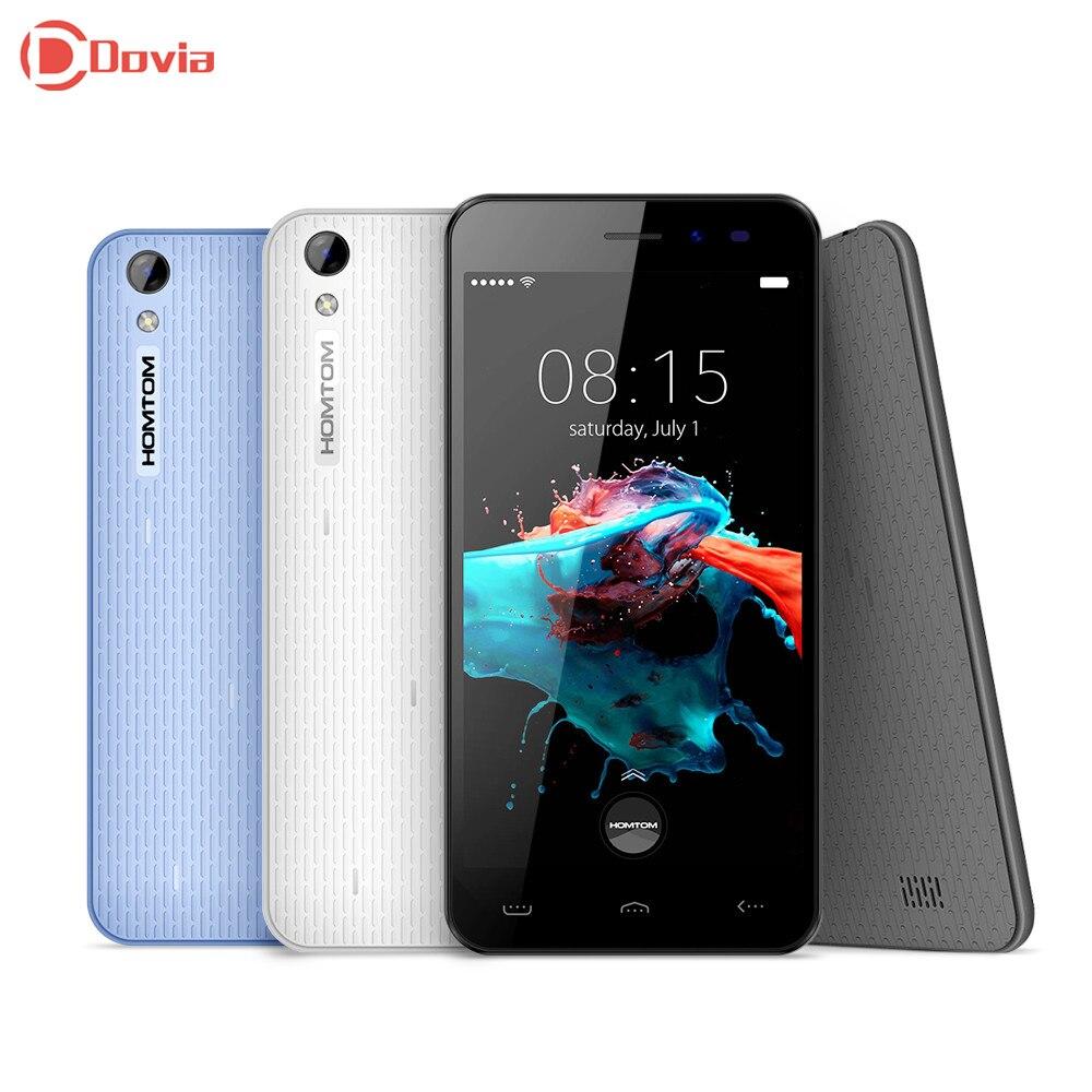 HT16 3G Smartphones 5.0 Polegada Android 6.0 MT6580 HOMTOM Quad Core Telefone celular 1G RAM 8G ROM 3000 mAh 5.0MP Câmera Do Telefone Móvel