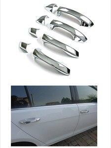 Image 2 - Новинка, хромированная накладка на дверную ручку автомобиля для Skoda Octavia A7 VW Golf 7 2014 2015 2016 2017 2018, бесплатная доставка