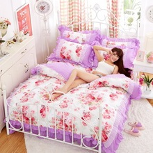 Lovely cartoon mickey mouse comforter bedding sets bed linen 3d duvet cover sheet pillowcases Full king Queen size