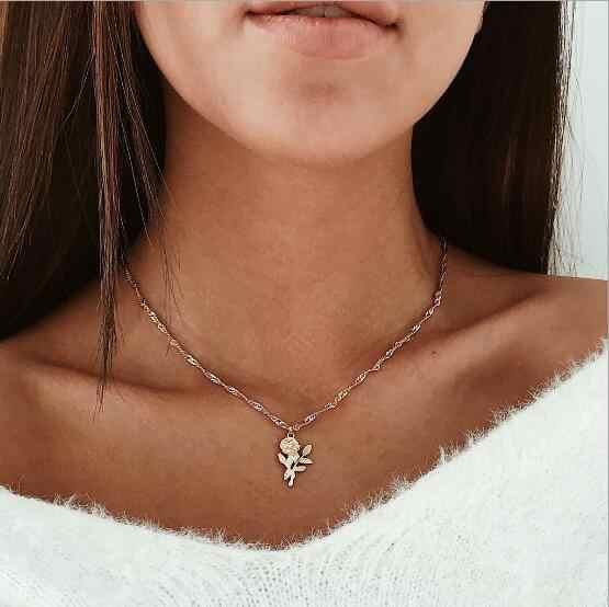 Seblasy ใหม่แฟชั่น Moon Star Bird Evil Eye ดอกไม้ Cross Chain จี้สร้อยคอสำหรับผู้หญิงของขวัญวันวาเลนไทน์เครื่องประดับ bijoux