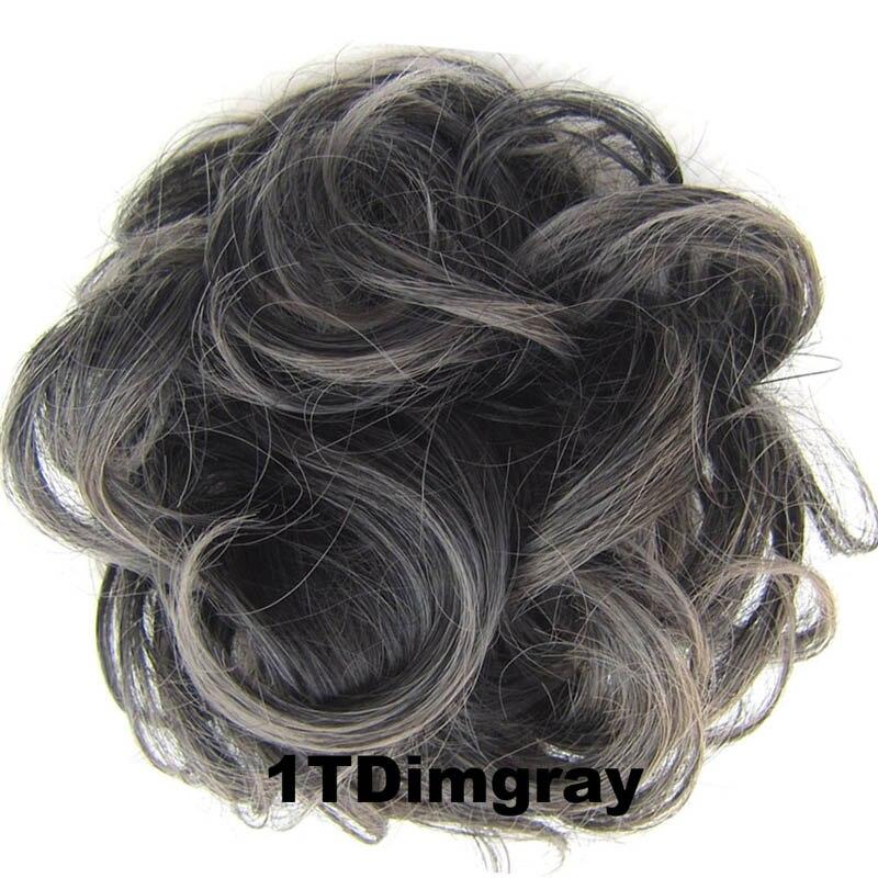 1 шт. jeedou синтетический шиньон пончик Гэри коричневый Цвет 30g волос накладной пучок для волос шиньон эластичная резинка для волос группа