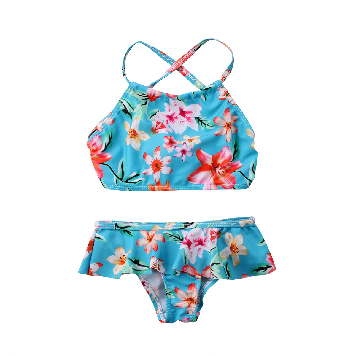 2pcs Holiday Clothes Toddler Kids Baby Girls Flower Swimsuit ...
