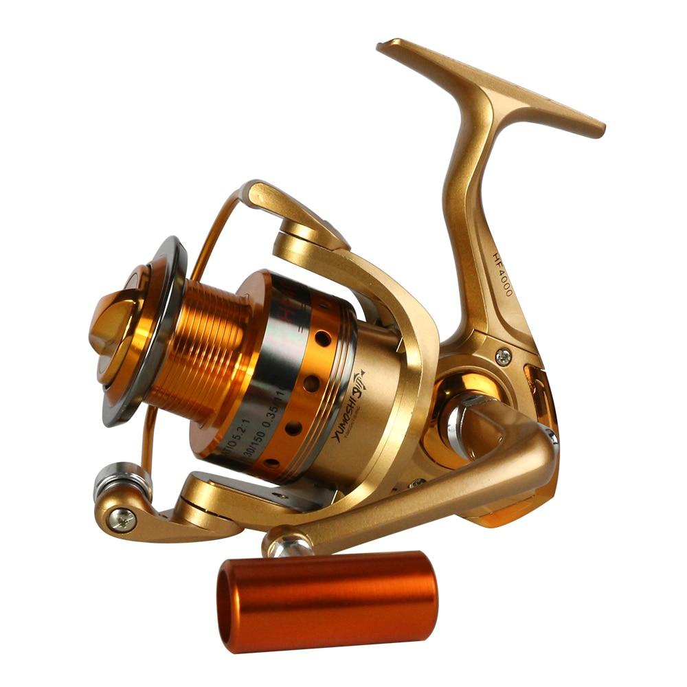 Nueva agua salada spinning Pesca carrete 1000-5000 serie Metal carrete Carp Carretes de pesca rueda bobina 10bb 5.5: 1