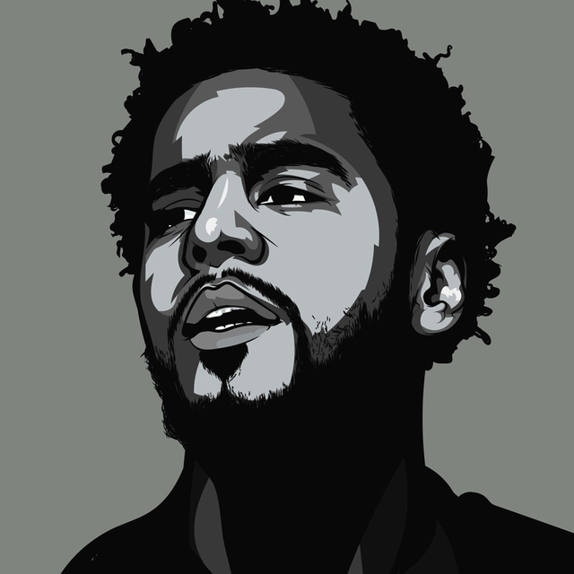 J Cole Black And White Art