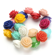 1pc/lot 6/8/10/12/15/20/25/30mm Mixed Colored Coral Rose Flower Beads Decorative Coral Spacer Beads for DIY Jewelry Making F2782