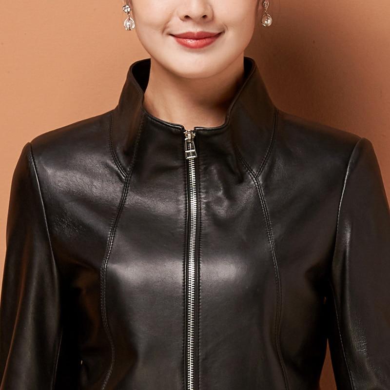 Vestes Cuir Black Couro Geniune Femmes Automne De Mince Veste Jaqueta Noir Mouton Blazer Yolanfairy En Peau Mujer Mf224 Printemps Uw8qR1xa