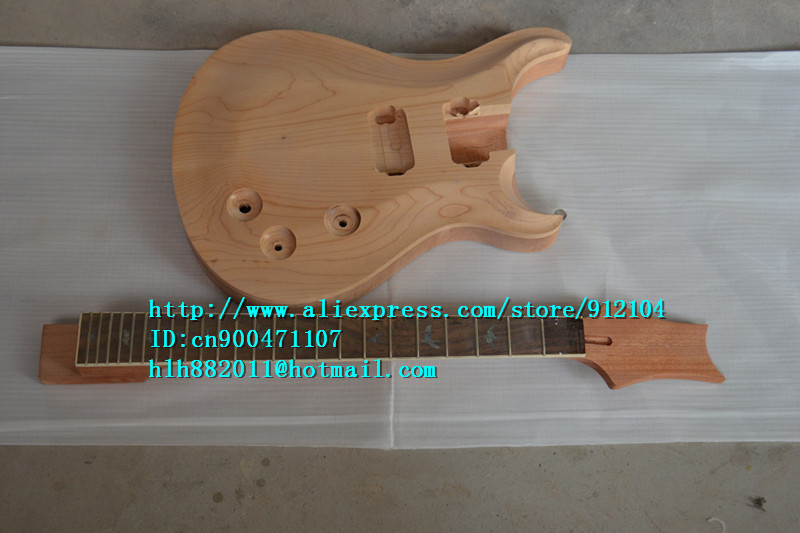 free shipping new unfinished electric guitar with mahogany body and rosewood fingerboard F-1620-2