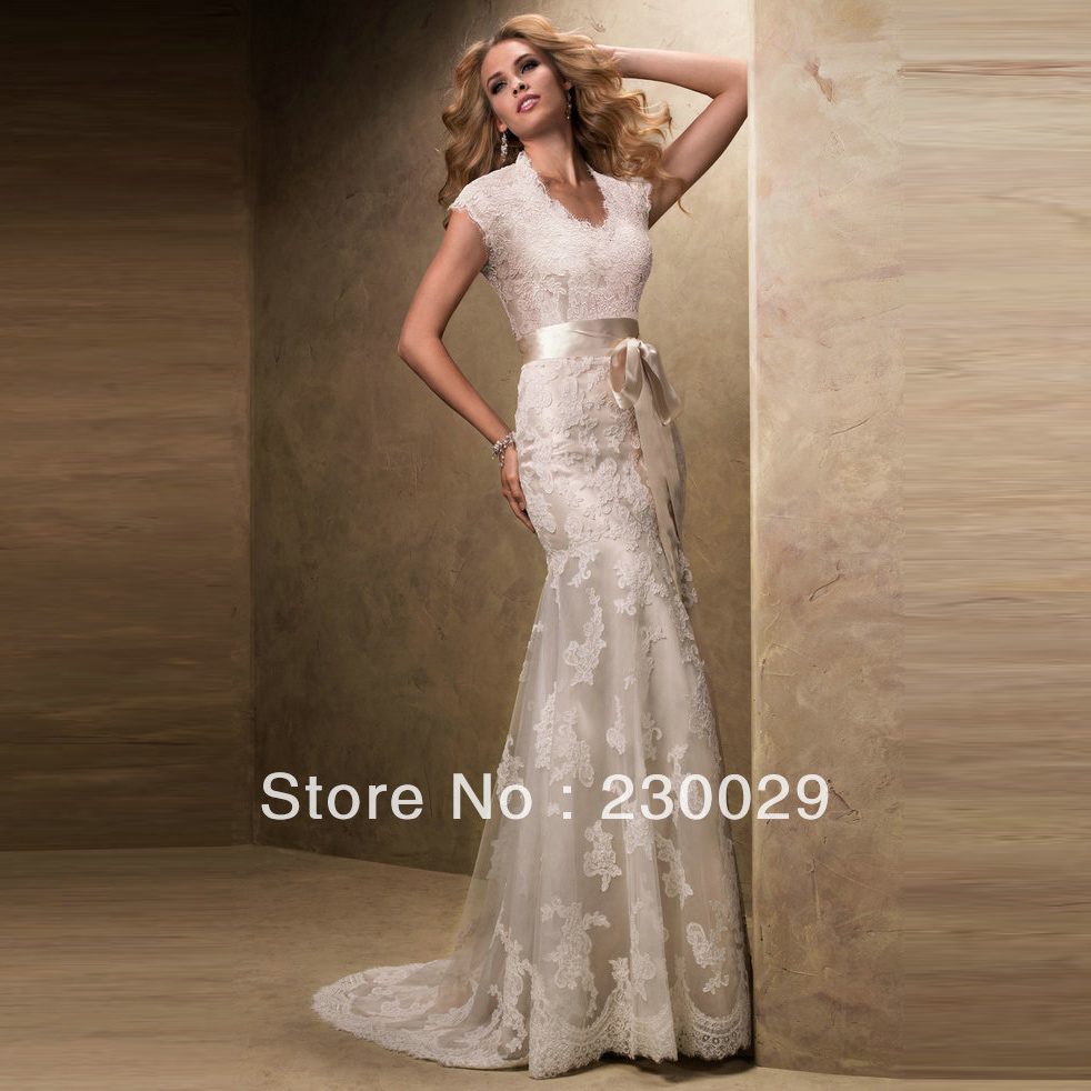 Dhl free shipping champagne color short sleeve wedding for Short champagne wedding dress