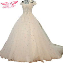 AnXin SH Promotional Korean princess wedding dress version thin waist big trailing bridal wedding dress 100% Real Pictures 836