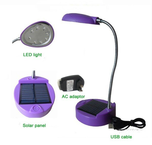 8led Super Bright Solar Desk Lamp Ac Usb Ed Reading Light For Students 48pcs Lot Free Shipping In Led Lamps From Lights Lighting On