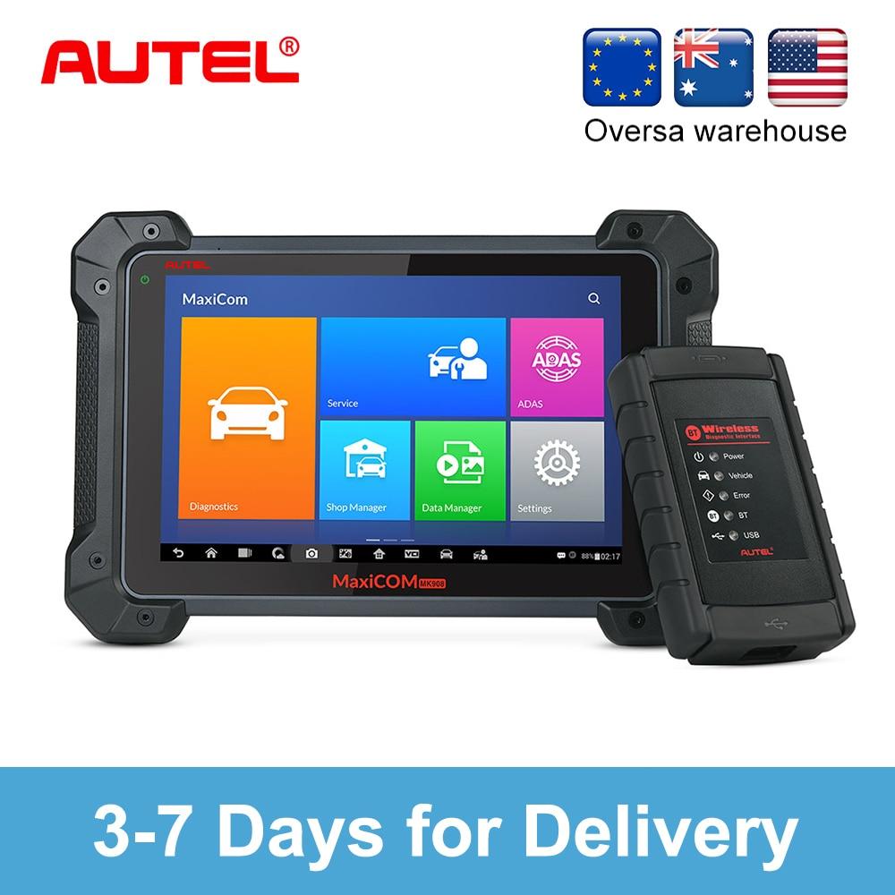 Autel MaxiCOM MK908 автоматический полный OBD2 автомобильный диагностический инструмент OBDII ECU кодирующий код считыватель сканер OBD 2 сканирующий инст...