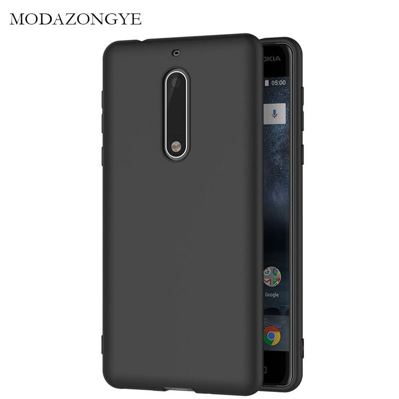 Original MODAZONGYE For <font><b>Nokia</b></font> 5 Case <font><b>Nokia</b></font> 5 Case Soft Silicone Back Cover Phone Case For Nokia5 TA-<font><b>1053</b></font> TA-1024 5.2 inch image