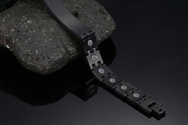 2020 панк черный магнит браслет для мужчин звено цепи из нержавеющей